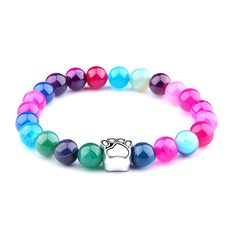 Splashes Of Color Paw Print Bracelet by Your Best Buddy