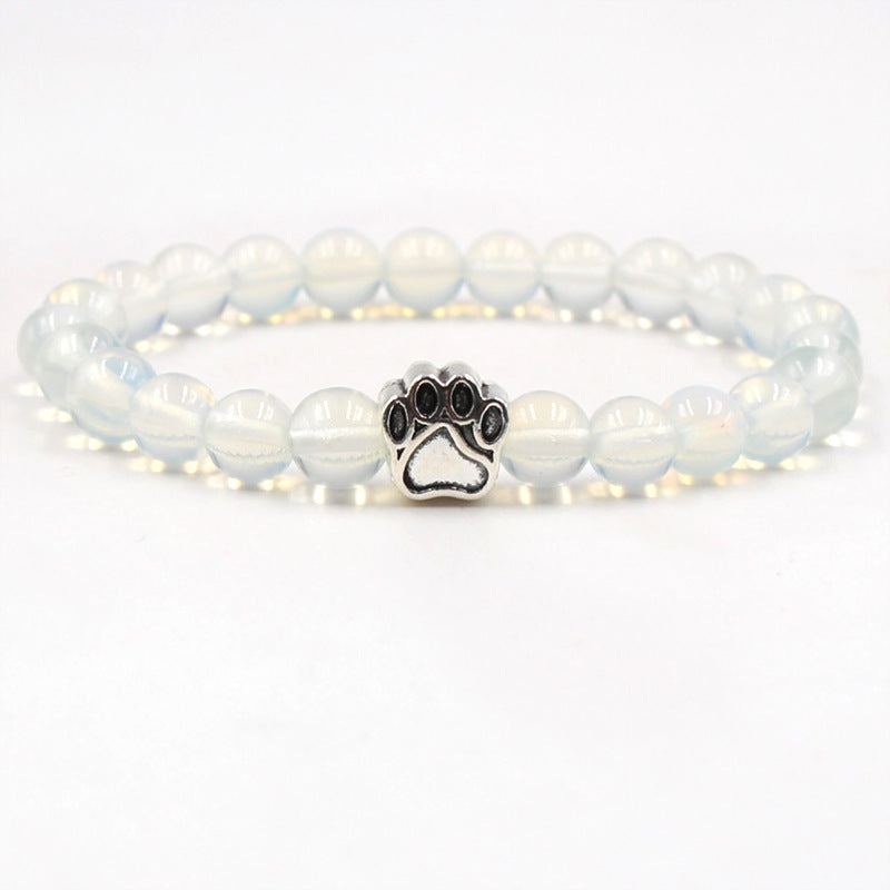 Clear Paw Print Bracelet by Your Best Buddy