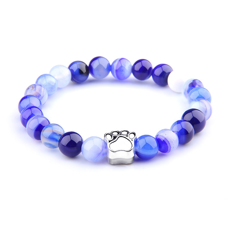 Shades Of Blue Paw Print Bracelet by Your Best Buddy