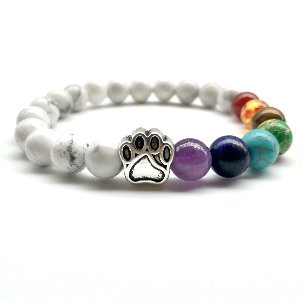 Marble Multi Paw Print Bracelet by Your Best Buddy