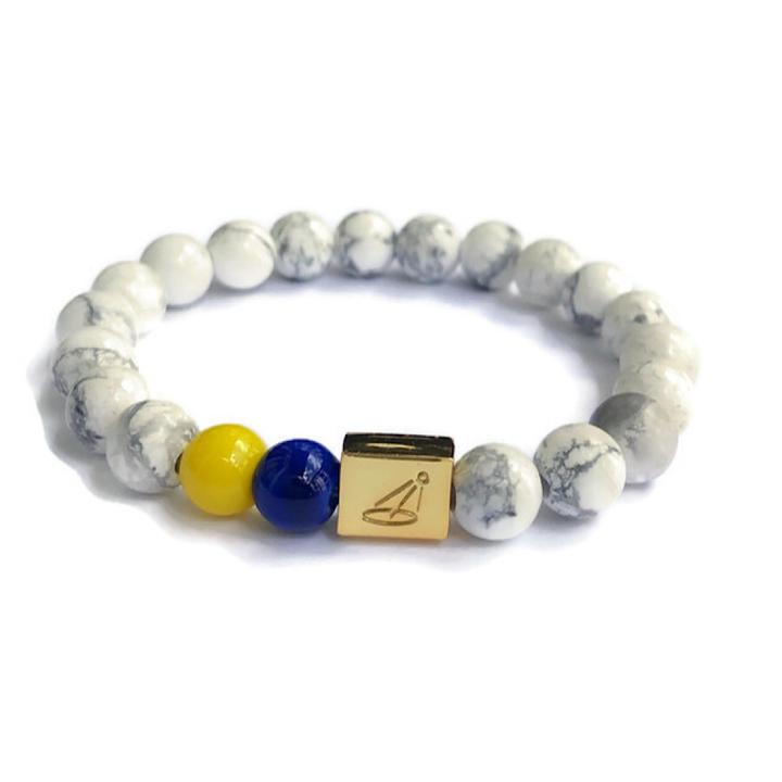 Down Syndrome Acceptance Marble Beaded Bracelet by The Spotlight Project