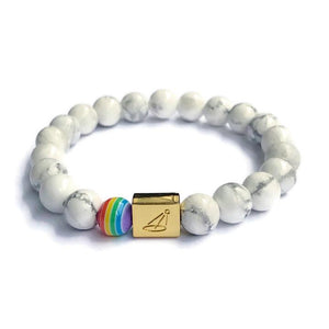 Autism Acceptance Marble Beaded Bracelet by The Spotlight Project