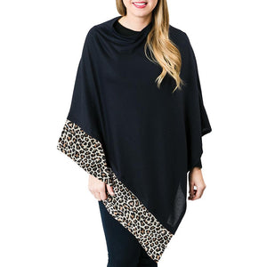 JADE PONCHO - LEOPARD