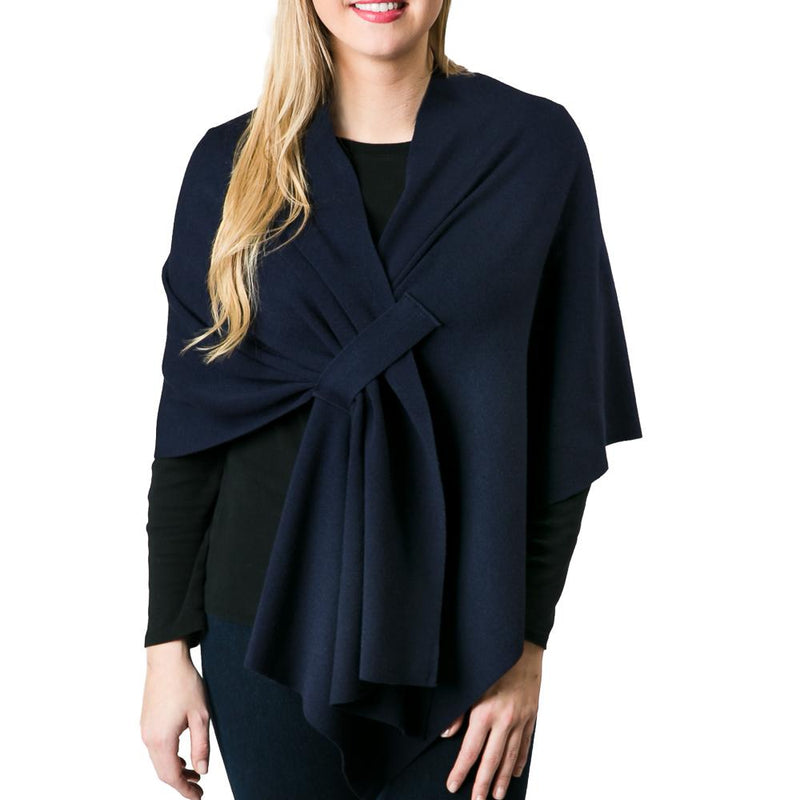 Katie Keyhole Wrap Color Navy