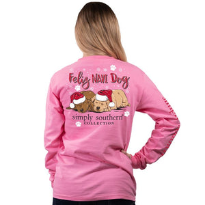 Feliz Navi Dog Long Sleeve Tee by Simply Southern
