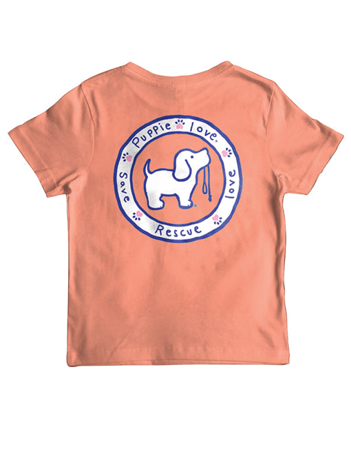 Youth Coral Logo Pup Short Sleeve By Puppie Love (Pre-Order 2-3 Weeks)