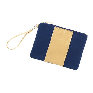 Navy Cabana Monogram Wristlet (Lead Time 2 Weeks)