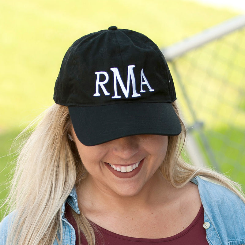 Black Monogram Cap (Lead Time 2 Weeks)