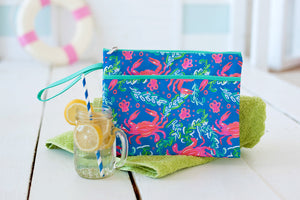 Sand Hopper Monogram Zip Pouch Wristlet (Lead Time 2 Weeks)