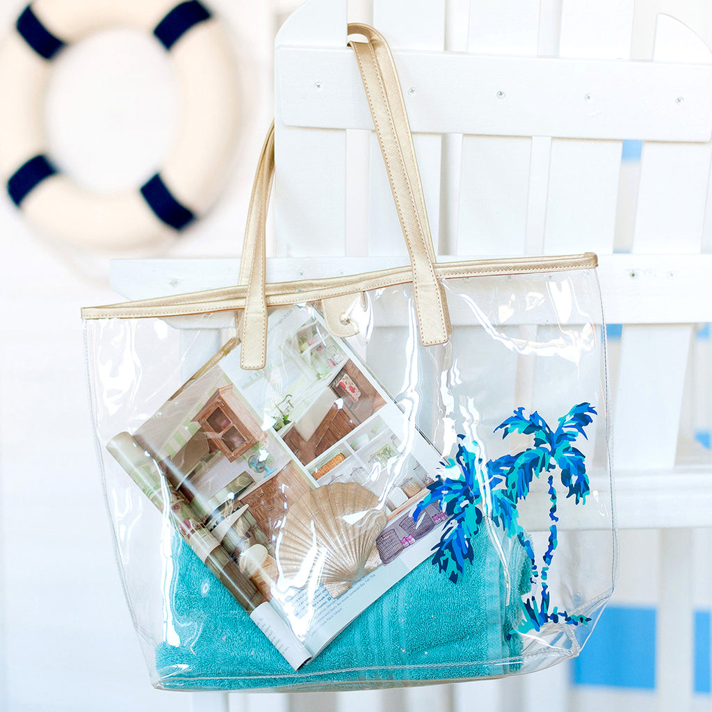 Palm Retreat Clear Tote (Lead Time 2 Weeks)