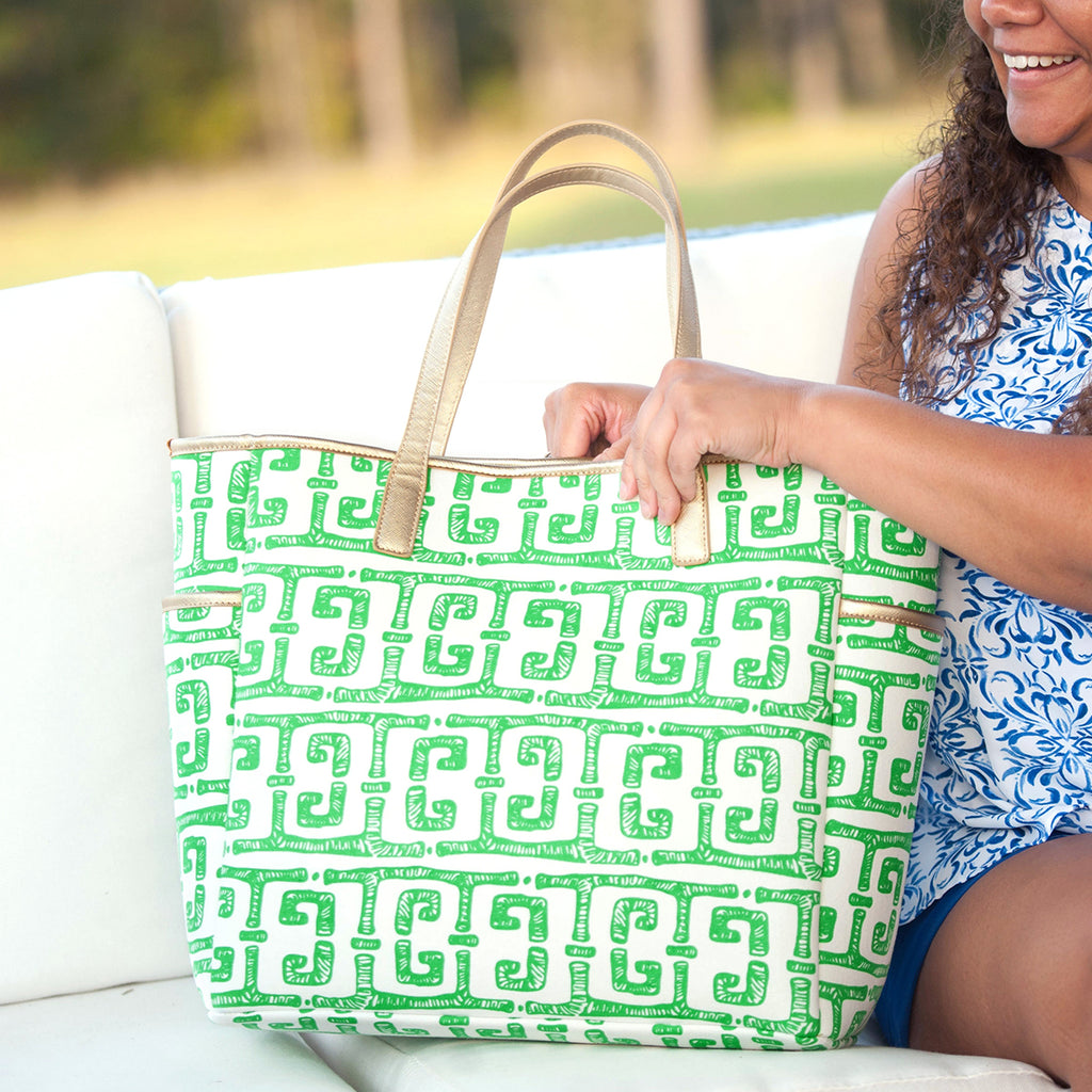 Tiki Monogram Hayden Tote (Lead Time 2 Weeks)