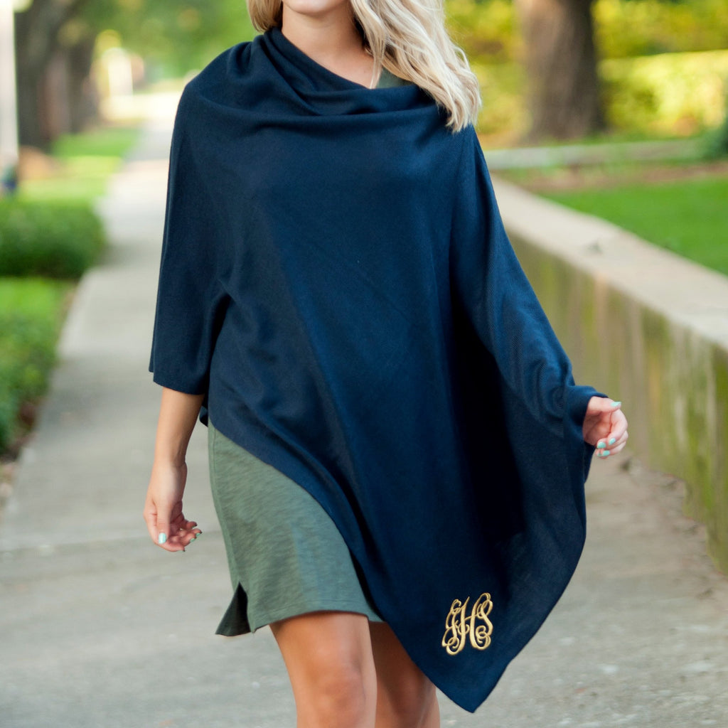 Navy Chelsea Poncho (Lead Time 2 Weeks)