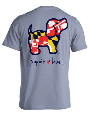 Puppie Love Tees - Maryland Pup,[product-type] - The Pink Silhouette