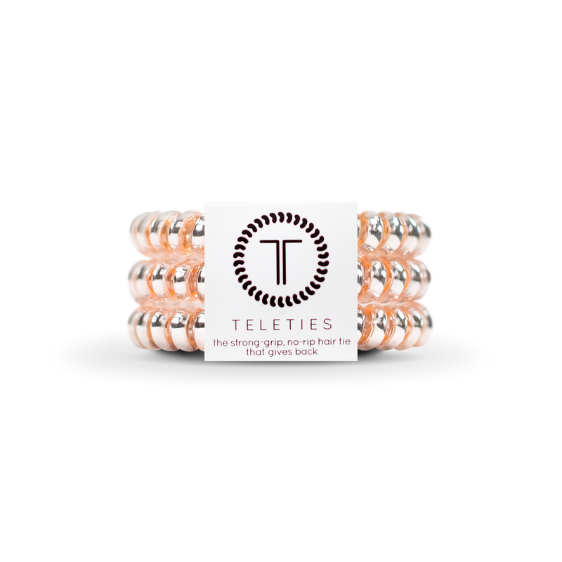 Teleties Millennial Pink - Small Hair Tie Pack Of 3