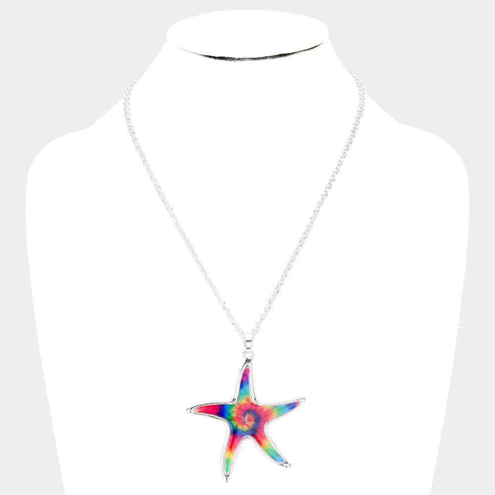 Starfish Tie Dye Necklace