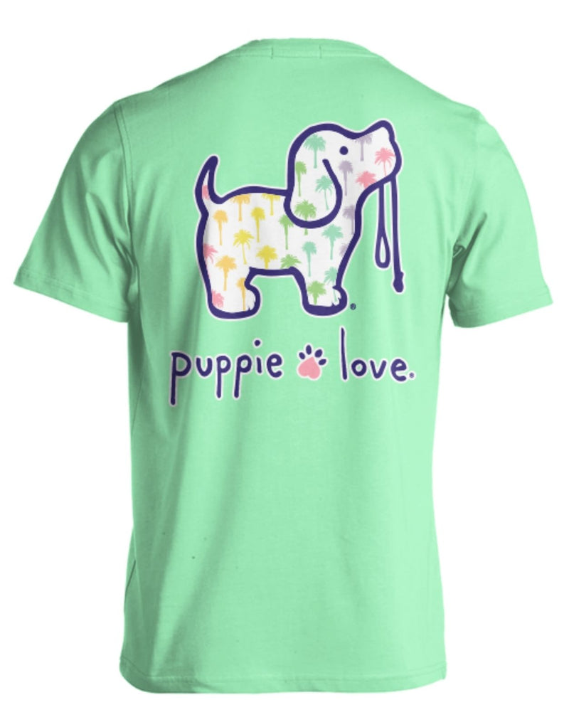 Rainbow Palm Trees Pup Tee By Puppie Love (Pre-Order 2-3 Weeks)
