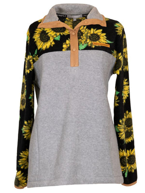 Sunflower Fleece Pullover by Simply Southern
