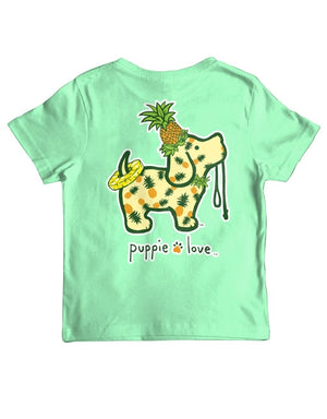 Youth Pineapple Pup Short Sleeve By Puppie Love (Pre-Order 2-3 Weeks)