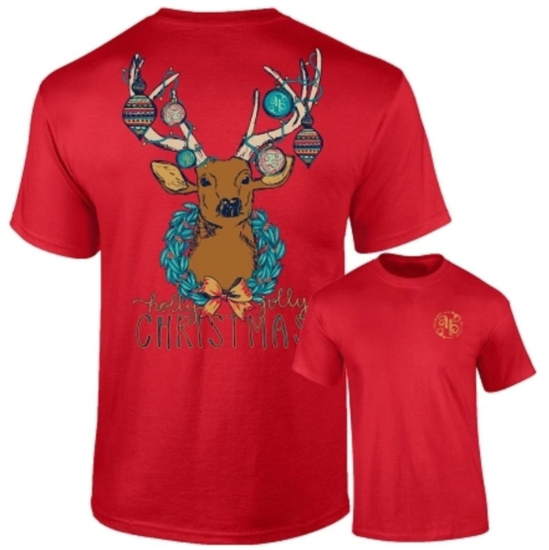 Ashton Brye by Southernology - Christmas Deer T Shirt (Lead Time 2 Weeks)