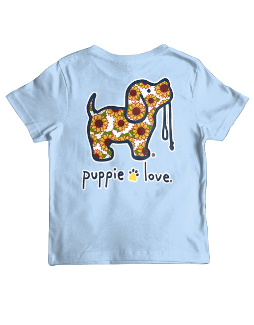 Youth Sunflower Pup Short Sleeve By Puppie Love (Pre-Order 2-3 Weeks)