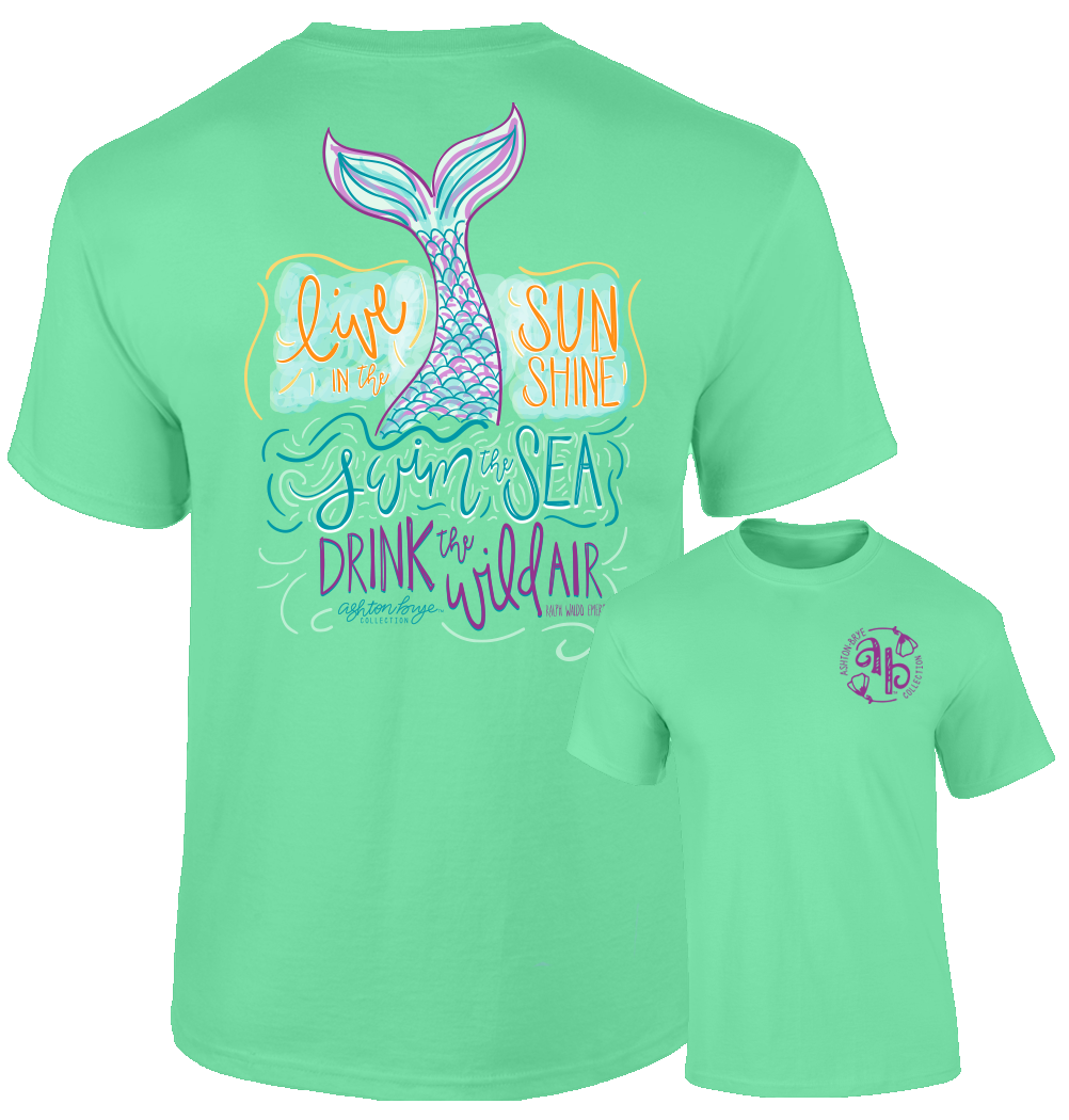 Ashton Brye by Southernology - Swim The Sea Tee Shirt (Lead Time 2 Weeks)