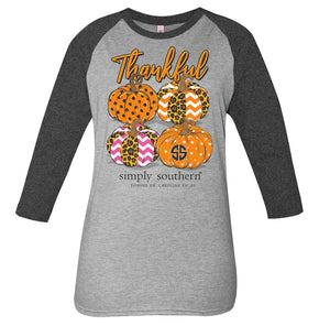 Thankful Raglan Tee by Simply Southern