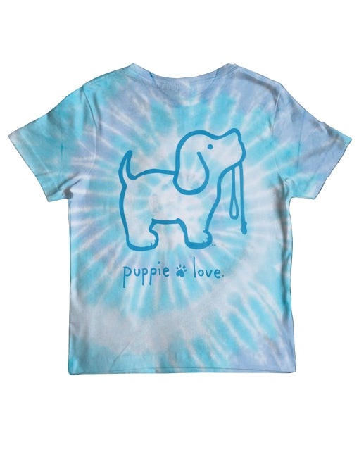 Youth Wildflower Tie Dye Pup Short Sleeve By Puppie Love (Pre-Order 2-3 Weeks)