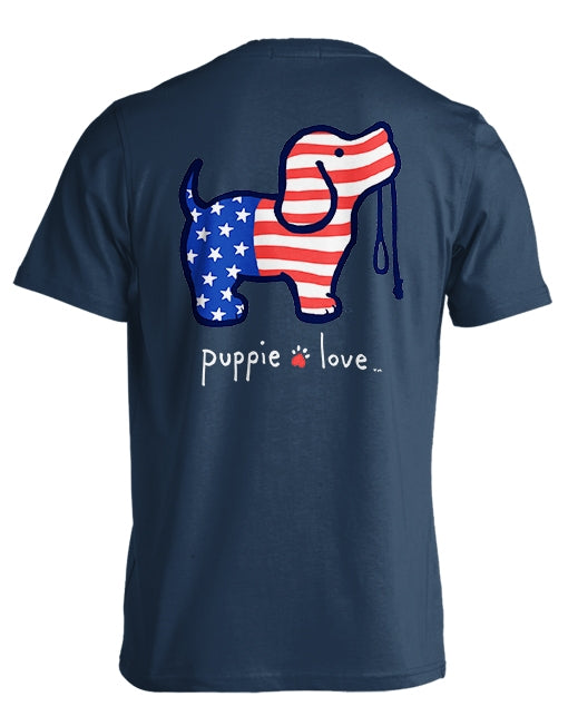 USA Pup By Puppie Love (Pre-Order 2-3 Weeks) Supports Red Cross