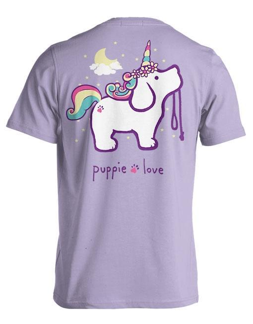Puppie Love Tees - Unicorn Pup,[product-type] - The Pink Silhouette