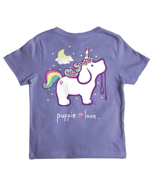 Youth Unicorn Pup Short Sleeve By Puppie Love (Pre-Order 2-3 Weeks)
