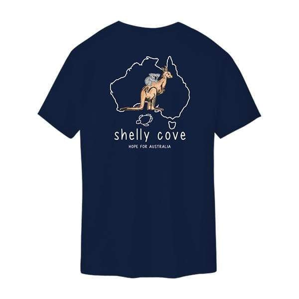 Australia Navy Tee- Shelly Cove