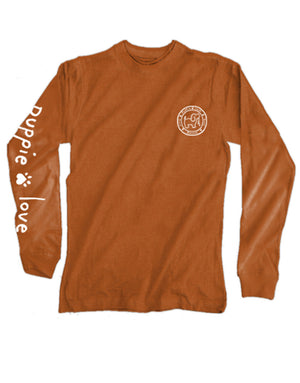 Turkey Pup Long Sleeve Tee By Puppie Love (Pre-Order 2-3 Weeks)