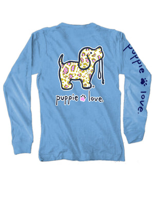 Pink & Gold Leopard Pup Long Sleeve Tee By Puppie Love (Pre-Order 2-3 Weeks)