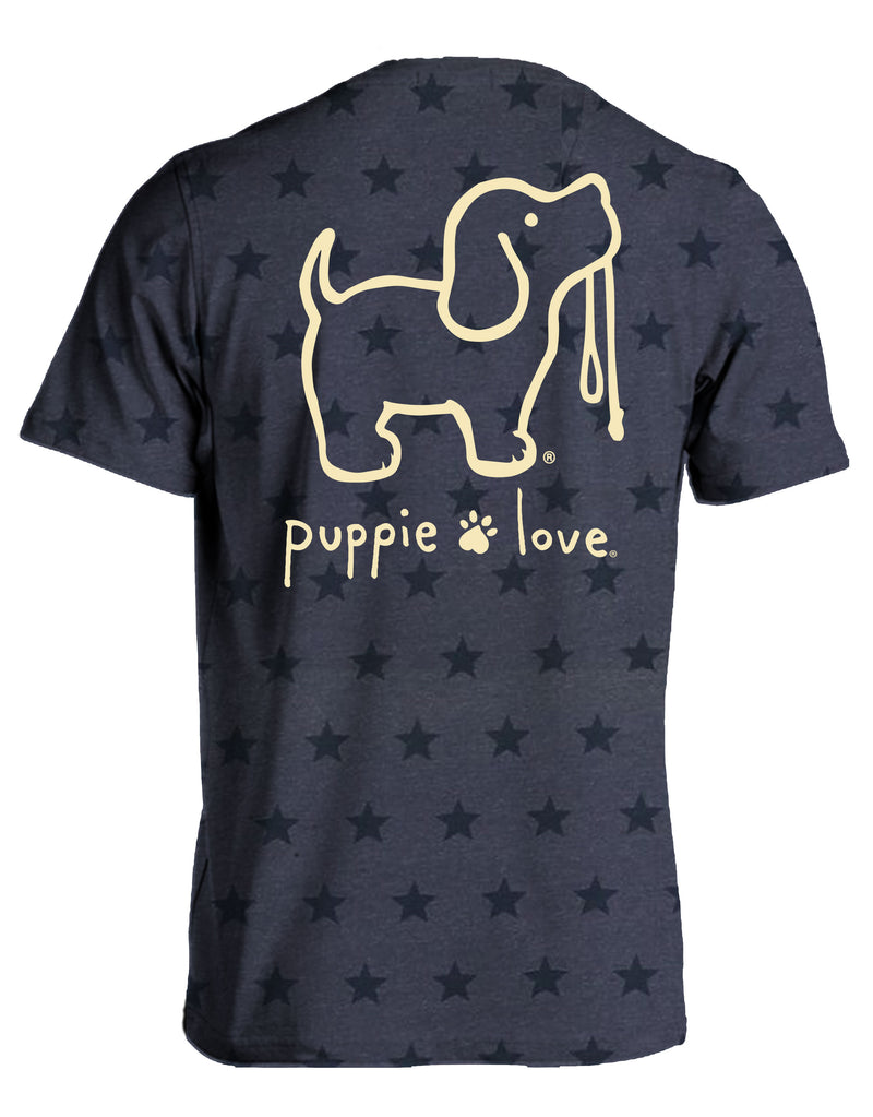 Denim Star Logo Pup By Puppie Love (Pre-Order 2-3 Weeks)