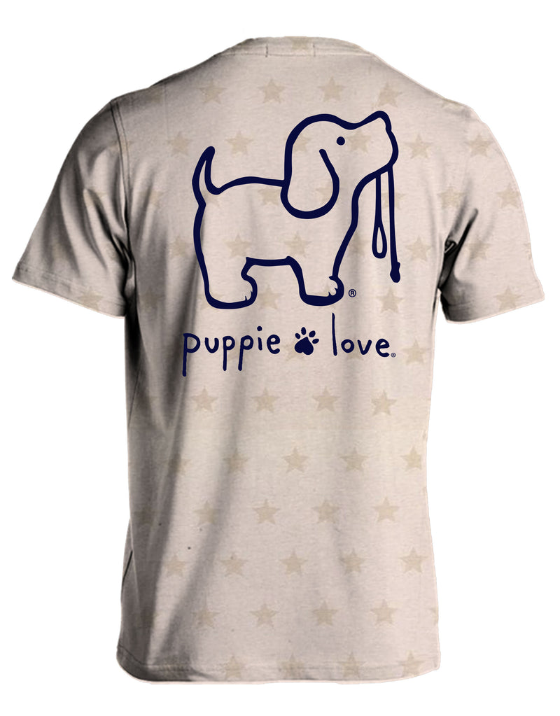 Natural Heather Star Logo Pup By Puppie Love (Pre-Order 2-3 Weeks)