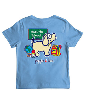 Youth Bark To School Pup Short Sleeve By Puppie Love (Pre-Order 2-3 Weeks)