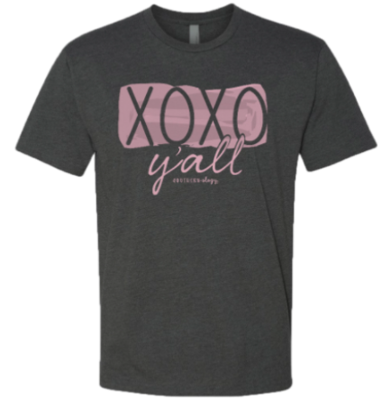 Southernology - XOXO Y'all Front Statement Tee (Lead Time 2 Weeks)