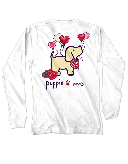 Youth Heart Balloon Pup Long Sleeve By Puppie Love (Pre-Order 2-3 Weeks)