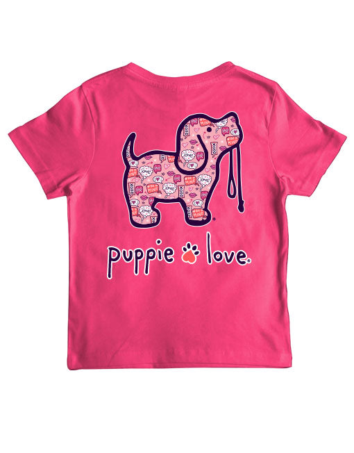 Youth Valentine's Convo Pup Short Sleeve By Puppie Love (Pre-Order 2-3 Weeks)