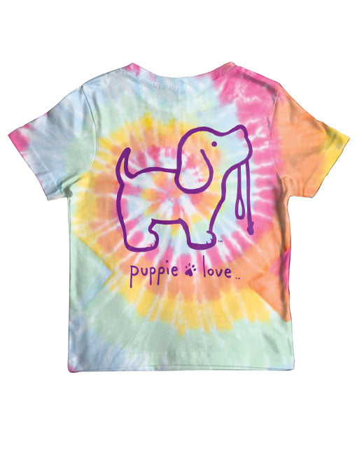 Youth Tie Dye #2 Pup Short Sleeve By Puppie Love (Pre-Order 2-3 Weeks)