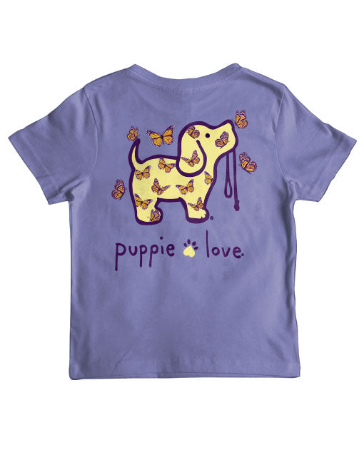 Youth Butterfly Pup Short Sleeve By Puppie Love (Pre-Order 2-3 Weeks)