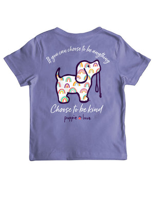 Youth Kind Rainbow Pup Short Sleeve By Puppie Love (Pre-Order 2-3 Weeks)