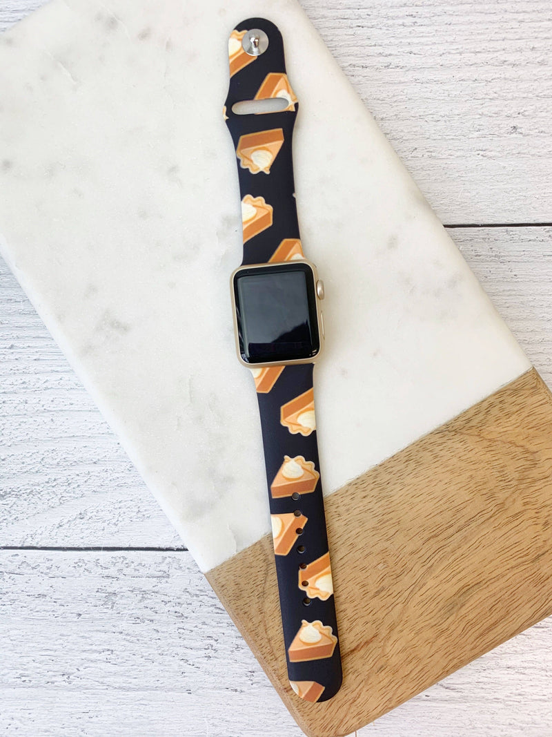Pumpkin Pie Printed Silicone Watch Band
