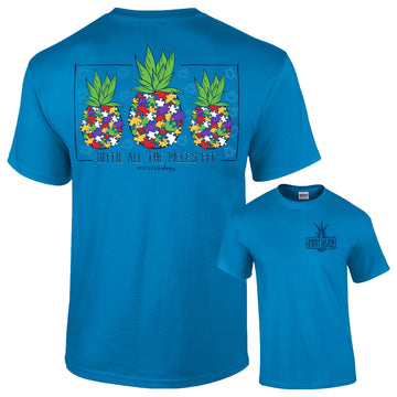 Southernology - Until All The Pieces Fit Autism T-Shirt Supports Global Autism Project  (Lead Time 2 Weeks)