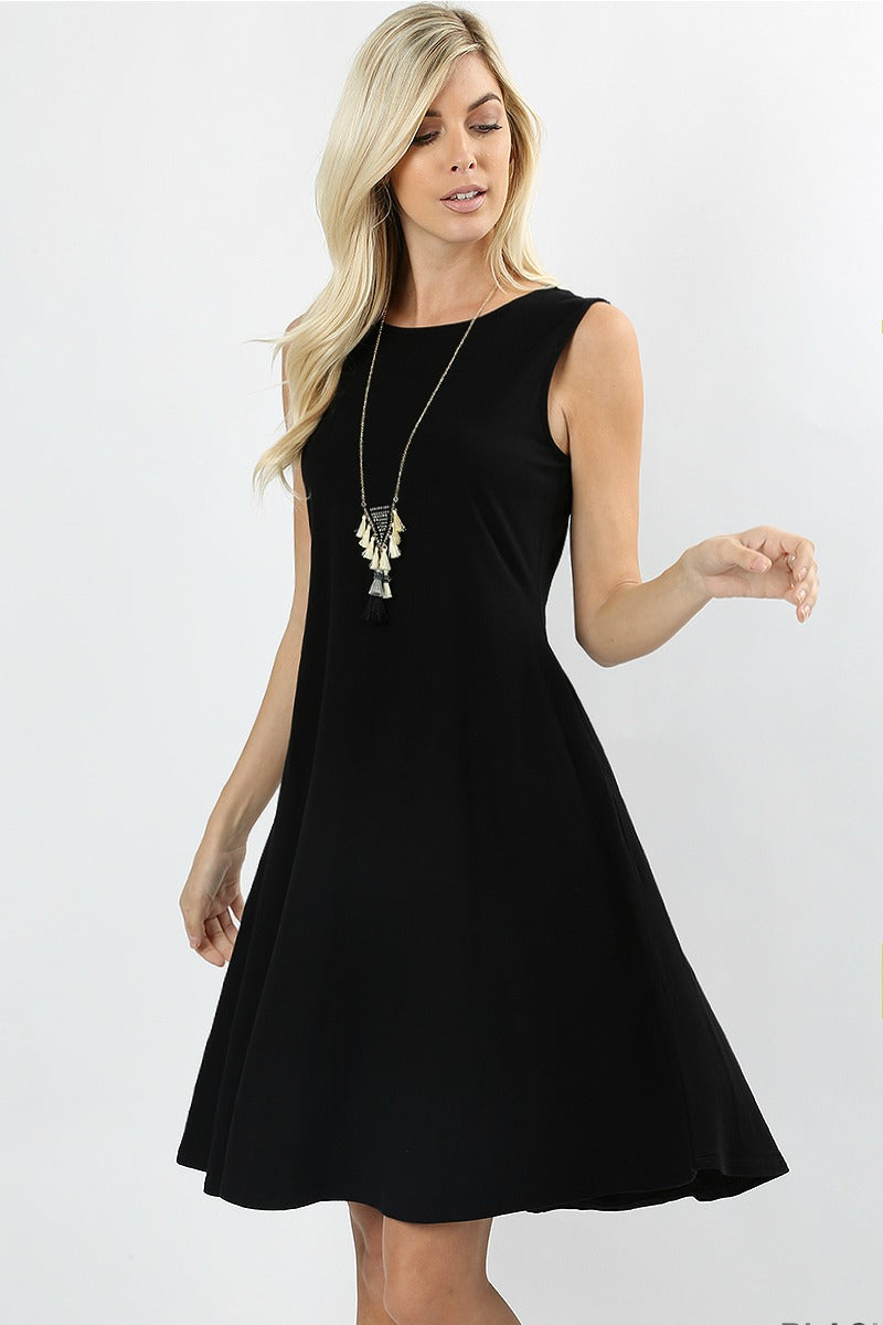 Blackberry Twist Dress Color Black
