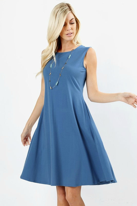 Blueberry Twist Dress Color Blue,[product-type] - The Pink Silhouette