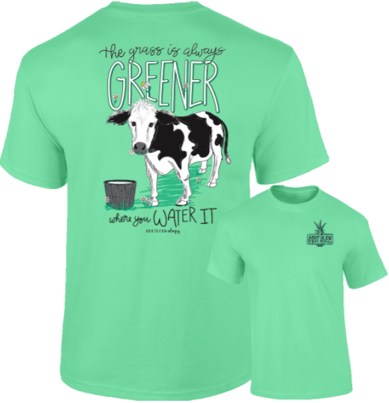 Southernology - The Grass Is Greener Tee Shirt (Lead Time 2 Weeks)