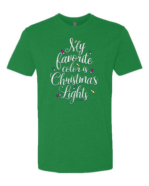Southernology -My Favorite Color Is Christmas Lights Tee (Lead Time 2 Weeks)