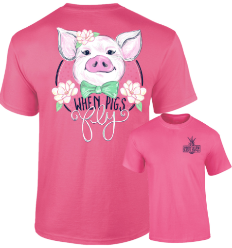 Southernology - When Pigs Fly Tee Shirt (Lead Time 2 Weeks)
