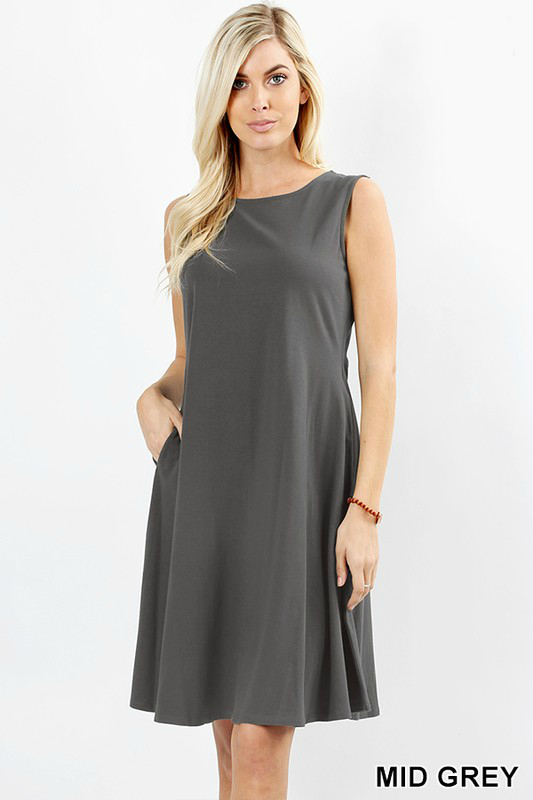 Twist Dress Color Mid Grey